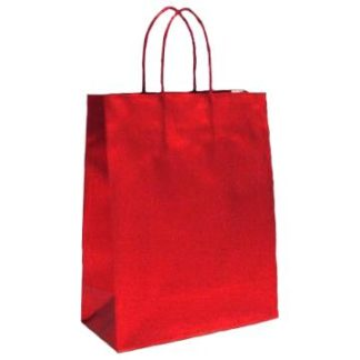 Red Metallic Twisted paper Handle Gift Sale Bags