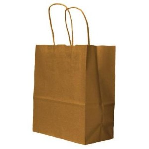Brown Kraft Twisted Paper Handle Carrier Bags