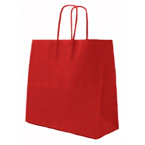 Red Twisted Paper Handle Carrier Bags
