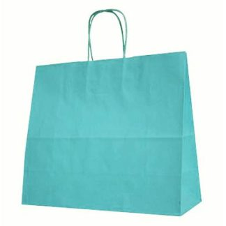 Sky Blue Twisted Paper Handle Carrier Bags