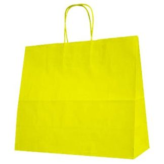Yellow Twisted Paper Handle Carrier Bags