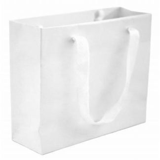 White Luxury Vogue Carrier Bags
