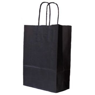 Black Twisted Paper Handle Carrier Bags