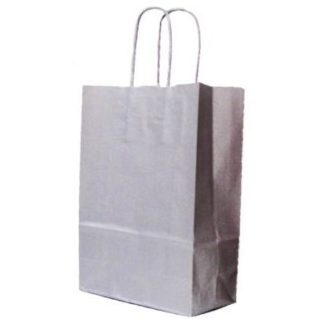 Silver Twisted Paper Handle Carrier Bags