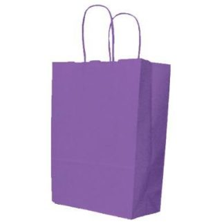 Violet Twisted Paper Handle Carrier Bags