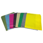 8 different colours of Flat bags