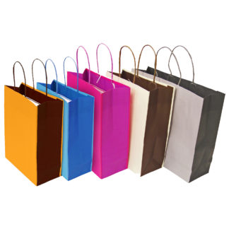 Bicolour Paper Carrier Bags