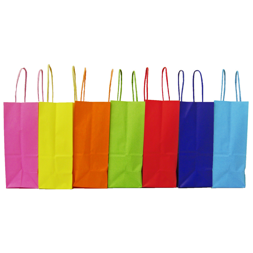 Twisted paper handle carrier bags summer range
