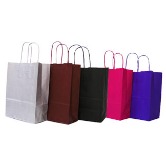 Twisted Paper Handle Carrier Bags Winter Range
