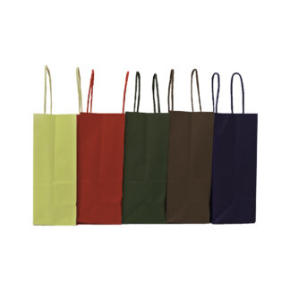 Twisted Paper Handle Carrier Bags Autumn Range