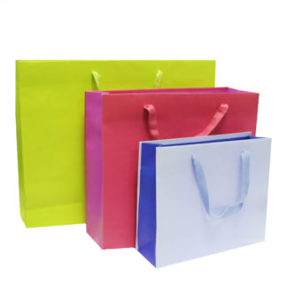 Ribbon Handle Paper Carrier Bags