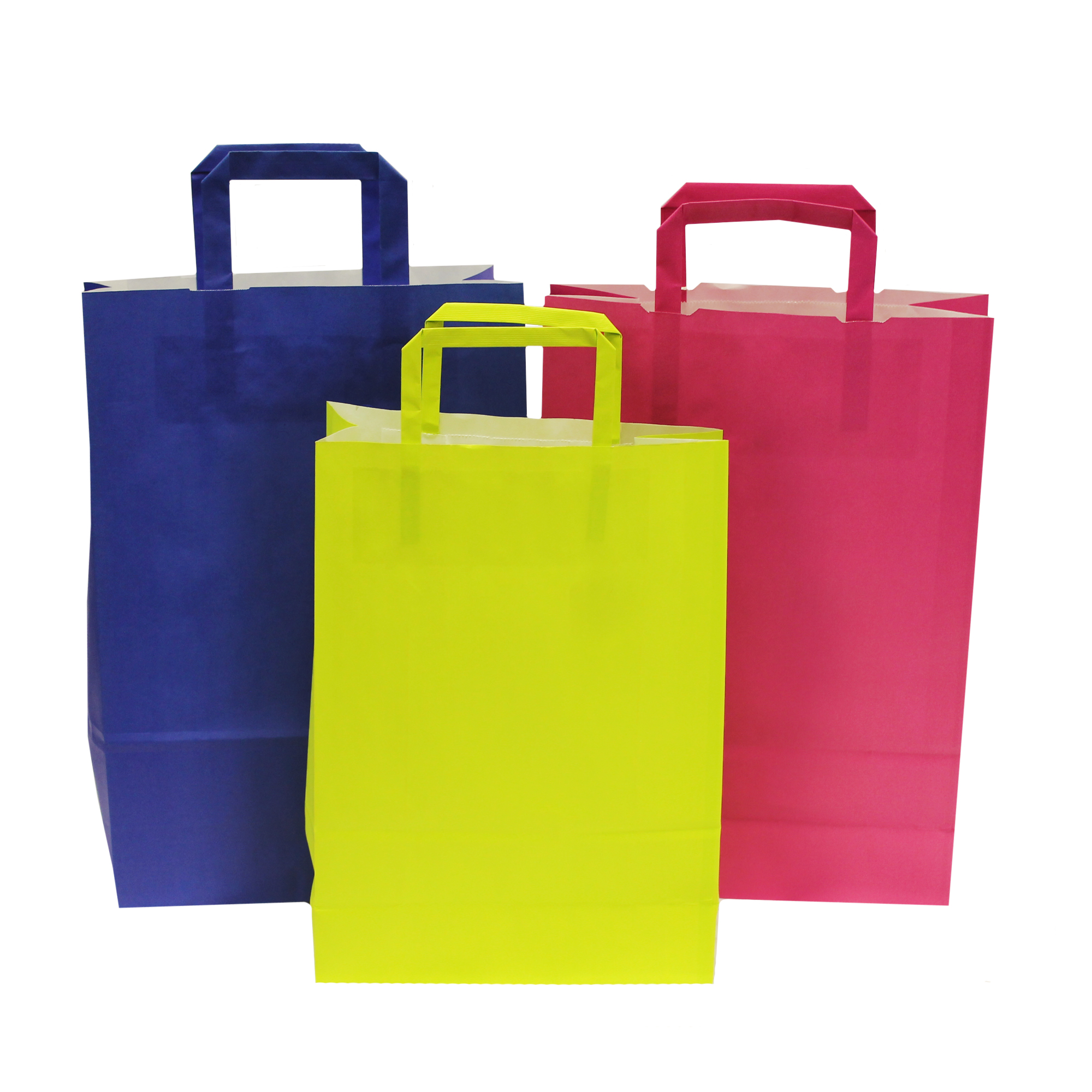 Flat Tape Handle Paper Carrier Bags