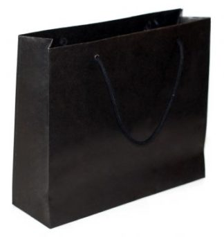 Black Luxury Non Laminate Rope Handle Carrier Bags