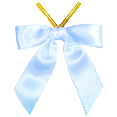 Blue Satin Twist Tie Sale Bows