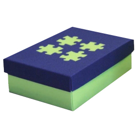 Blue on Green Jigsaw Designer Box