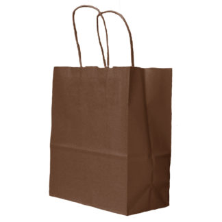 Chocolate Twisted Paper Handle Carrier Bags