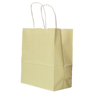 Cream Twisted Paper Handle Carrier Bags