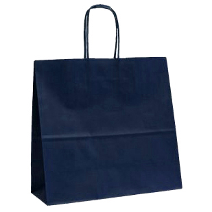 Dark Blue Twisted Paper Handle Carrier Bags
