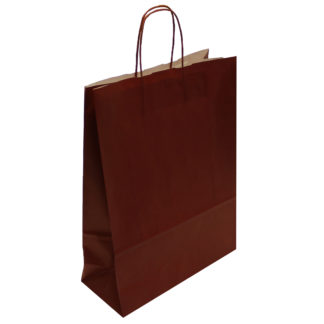 Dark Red Twisted Paper Handle Carrier Bags