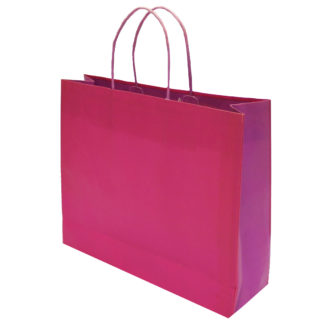 Fuchsia and Violet Bicolour Carrier Bags