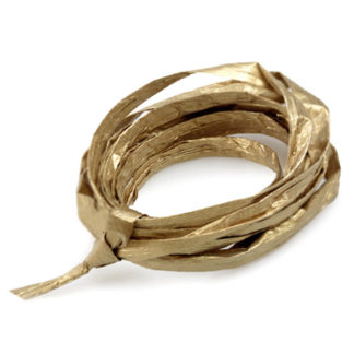 Gold Metallic Paper Raffia Ribbon