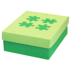 Light Green on Green Jigsaw Designer Box