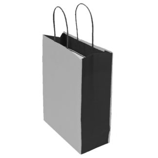Grey and Dark Grey Bicolour Carrier Bags