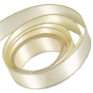 Ivory with Gold Edge Speciality Ribbon