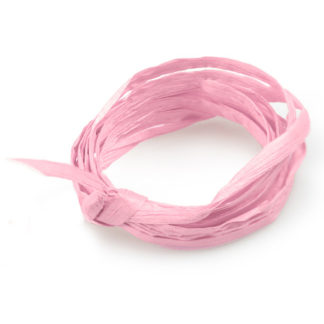 Light Pink Paper Raffia Ribbon