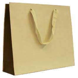 Beige and Brown Luxury Bicolour Carrier Bags