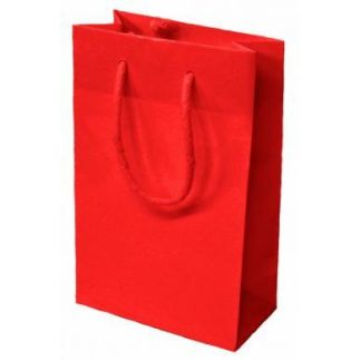 Red Luxury Gloss Rope Handle Carrier Bags