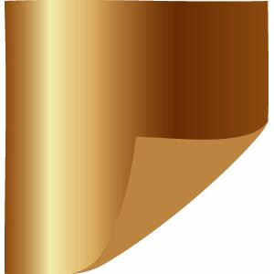 One-Sided Metallic Copper Tissue Paper