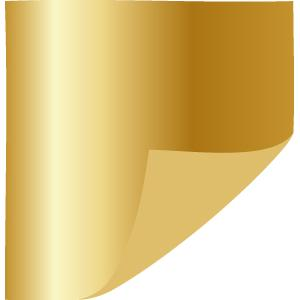 One-Sided Metallic Gold Tissue Paper