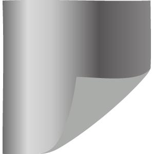 One-Sided Metallic Silver Tissue Paper