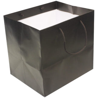 Midnight Brown Cake Paper Carrier Bags