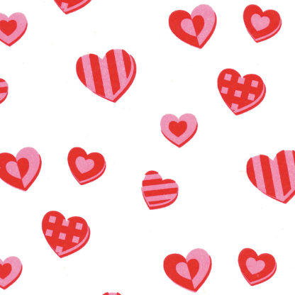 Red & Pink Hearts Wrapture Printed Tissue