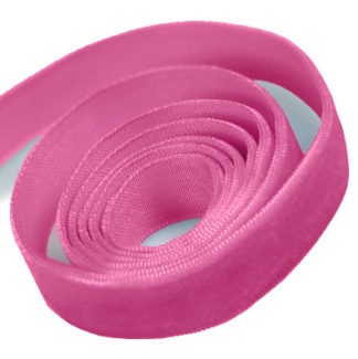 Shocking Pink Velvet Ribbon
