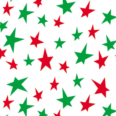 Red & Green Stars Wrapture Printed Tissue