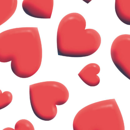 Red Hearts Wrapture Printed Tissue