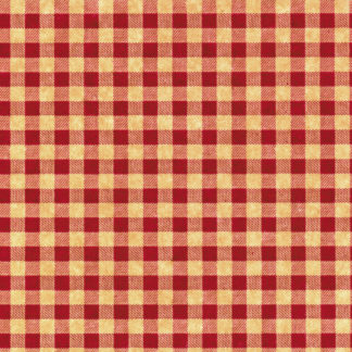 Red and Kraft Gingham Wrapture Printed Tissue