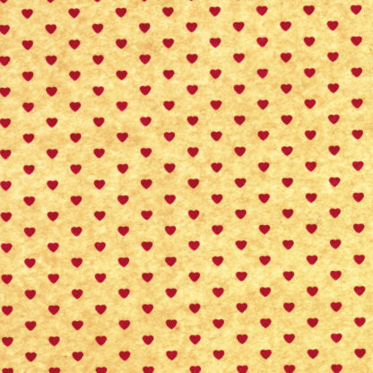 Red & Kraft Mini Hearts Wrapture Printed Tissue