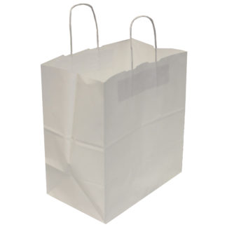 White Cake Paper Carrier Bags