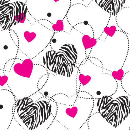 Zebra Hearts Wrapture Printed Tissue