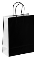 Black and White Bicolour Carrier Bags