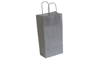 Grey Twisted paper handle carrier bag
