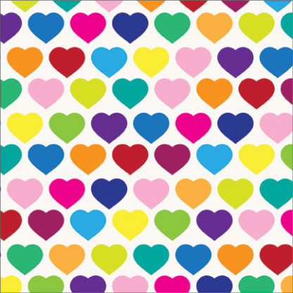 love hearts wrapture printed tissue
