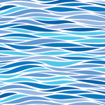 water ripples wrapture printed tissue