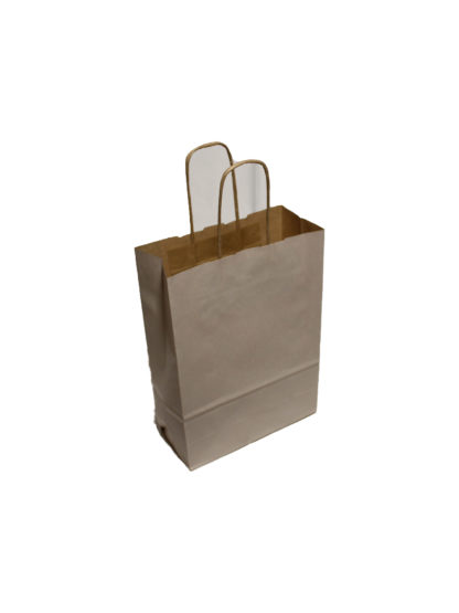 Off White Twisted Paper Handle Carrier Bags