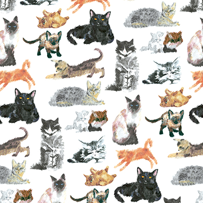 Cats and Kittens wrapture printed tissue